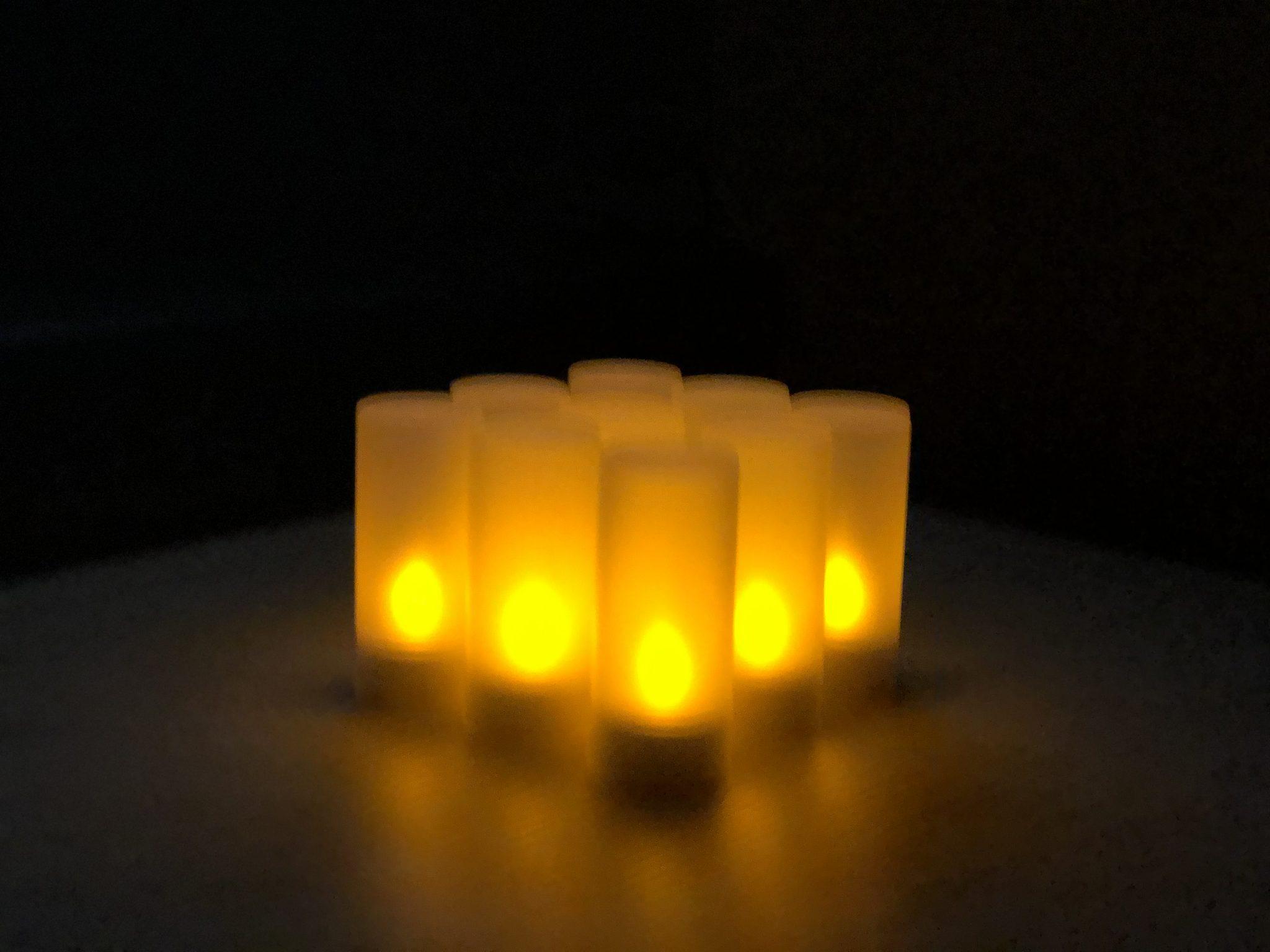 12 LED kaarsen met afstandsbediening